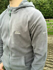 Mens Trespass Gunbarrel Microfleece Grey Smoke Full Zip Hooded Fleece Jacket XXL