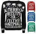 New Childrens Kids Merry Christmas Long Sleeve Knitted Novelty Jumper Top 7 - 13