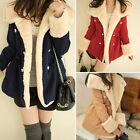 1PC Winter Fashion Warm Double-Breasted Wool Blend Jacket Women Coat Durable
