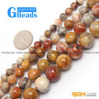 "Natural Crazy Lace Agate Round Loose Beads Strand 15"" 6-12mm for Jewelry Making"