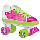 NEW! ROLLER DERBY ZINGER QUAD SPEED SKATES GIRL'S KIDS *PINK/GREEN*