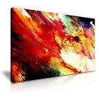 MODERN ABSTRACT ART Red Splash Illusions Canvas Framed Print ~ More Size