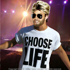 George Michael 80s WHAM Fancy Dress CHOOSE LIFE T Shirt Wig Glasses Makeup lot