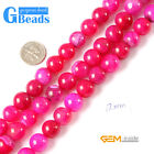 "Round Plum Crackled Agate Loose Beads Strands15"" 6-12mm Gemstone Crafts Making"