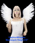 Large Open Swing V shape Costume Feather Angel Wings Black, White, Blue or Red