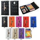 Cute Bling Bow PU Leather Wallet Flip Case Cover For Samsung Galaxy Note 3 N9000