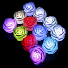 Romantic 7Color Changing LED Lamp Candle Light Night Rose Flower White Party Dec