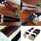 Women's Knitted Cotton High Socks Pantyhose Tights Over Knee Thigh Stockings NEW