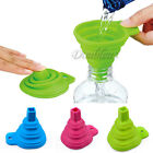 Silicone Small Collapsible Foldable Silicon Kitchen Funnel Hopper Gel Practical