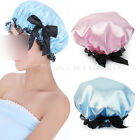 Women Elastic Band Lace Bowknot Hat Bath Shower Bouffant Cap Waterproof 2Colors