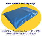 Blue Glossy Mailing Postal Courier Bags, Opaque, Strong Excellent Perm Seal