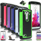 For 2014 LG G3 Rugged Impact Dual Layer Hybrid Full Protective Case Cover D850