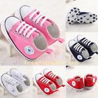New! unisex Infant Toddler Baby Boy Girl Soft Sole Crib Shoes to 18 Months UK3