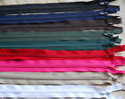 SECONDS ZIPS- VARIOUS COLOURS AND DESIGNS- CHOOSE, NYLON, METAL OR PLASTIC