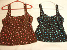 BAREFOOT MISS Size 6 or 10 Polka Dot Tank Strap Swimsuit Choice Brown Black NWT