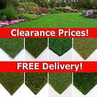 CLEARANCE Artificial Grass Quality Realistic Natural Fake Garden Lawn CHEAP