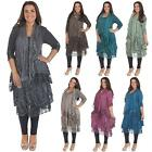Womens Italian Tunic Dress Lagenlook Quirky 3 Layer Knitted Top - One Size