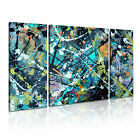 MODERN ABSTRACT ART Splash Canvas Framed Printed Wall Deco ~ 3 Panels