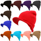 Plain Visor Beanie Men and Women Hat Cap Ski Winter Skull Knit 12 Colors *Pick 1