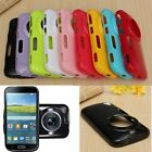 Jelly Glossy TPU Silicone Camera Lens Back Case for Samsung Galaxy K ZOOM C115