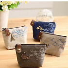 New High Quality Ladies Retro Classic Nostalgic Sackcloth Coin Case Purses Bag