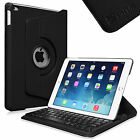 360 Rotating Case Cover with Detachable Bluetooth Keyboard for Apple iPad