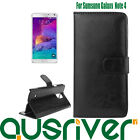 New Premium Wallet Flip Stand Leather Case Cover for Samsung Galaxy Note 4 N9100
