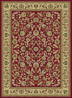 Red Traditional Oriental Floral Vine Area Rug Multi-Color Border Persian Carpet