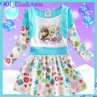 Disney Frozen Princess Elsa Anna Queen Christmas Party Dresses Outfit AGE 2 to 6