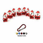 8x Little Wooden Christmas Ornament Holiday Home Decorations + Hook