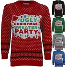 Ladies XMAS Novelty Women's Knitted Ugly Christmas Sweater Party Jumper 8-14