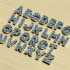 26 Letters Rhinestone Slide Bead Charm 8mm For Wristband DIY Bracelet Pet Collar