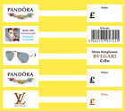 Create Professional Inkjet Jewellery Price Labels / Stickers / Tags 15 x 100mm