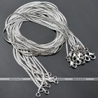 100x Punk Silvery Men Women White Gold Plated Lock Line Link Chain Curb Necklace