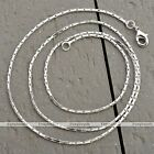 "1 Strand White Gold Link Box Chain Necklace Fit Jewelry Gift 18-24""L Fashion"