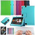 "For Amazon Kindle Fire HDX 8.9"" Folio PU Leather Case Cover+Bluetooth Keyboard"