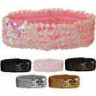Women's Bandeau Dance 80's Headband Ladies Girls Sequin Stretch Sparkly Band
