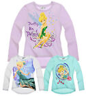 Girls Disney Tinkerbell T Shirt Kids Long Sleeve Top New Age 2 4 6 8 Years