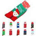2014 Christmas Snowflake Deer Santa Gift Star Design Women Men Socks  Free Ship