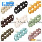 """Assorted Lava Rock Gemstone Coin Loose Beads Strands 15"""" Jewelry Making 27mm"""