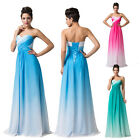 Long Chiffon Beach Wedding Formal Gown Ball Party Cocktail Evening Prom Dresses