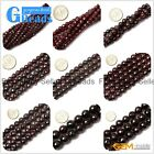 "Natural Garnet Round Faceted Beads Strands 15"" 4-16mm for Jewelry Crafts Making"