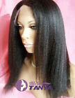 "Kinky straight 100% Indian remy human hair full lace wigs/lace front wigs 8""-22"""