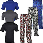 PJ2 Mens Skull Print Novelty Pyjama Set  T-shirt and Trouser Nightwear Cotton PJ