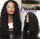 "Natural Curly 100% Brazilian remy human hair full lace wig/lace front wigs8""-22"""