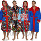MARVEL COMICS FLEECE WARM HEROES BATHROBE CLASSIC THICK DRESSING GOWN ROBE MENS