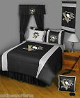 Pittsburgh Penguins Comforter & Sheet Set Twin to King Size Sidelines