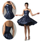 Bling XMAS Masquerade Sequins Cocktail Party Evening Gown Prom Homecoming Dress
