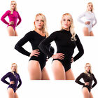 Thermo Damen Langarm Halbkragen Body suit Thermobody Microfaser Gr. M L Xl XXL