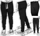 Mens Trendy Fashion Slim Fit Drop Crotch Joggers Bottom Cuffed Cotton Trouser